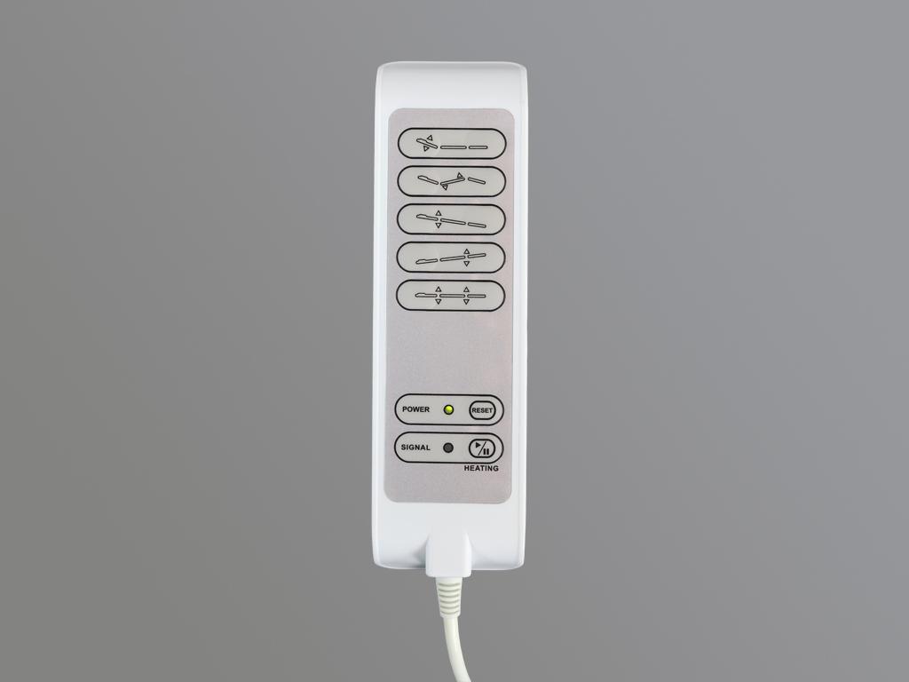 Elektrické ovládanie ručného diaľkového ovládača vrátane systému stolového vykurovania
