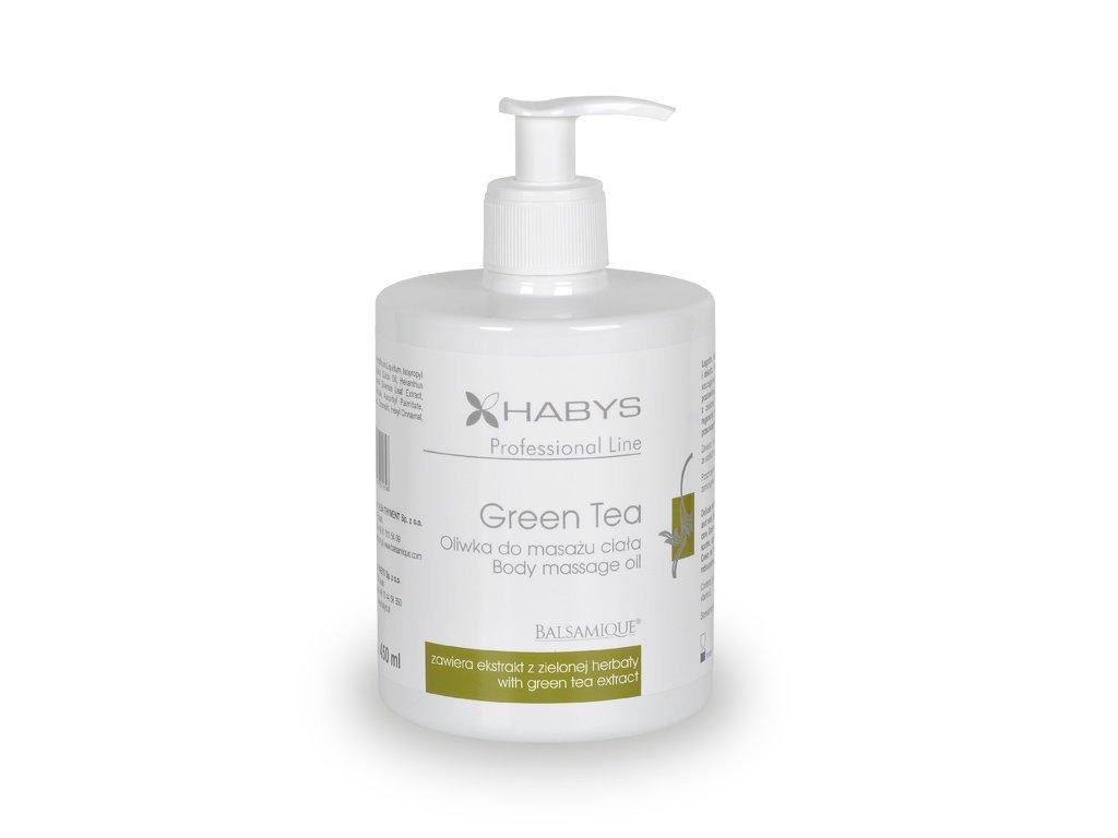 Masážny olej Green Tea